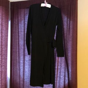 The Limited Long Sleeve Wrap Dress